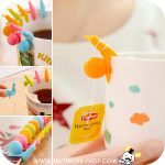 Snail Tea Bag Holder ที่แขวนถุงชา 4 ชิ้น