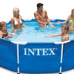 INTEX สระกลมเมทัลเฟรม