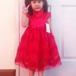 ชุดอาหมวยเด็กหญิงสีแดงคอเต่าผ้าดีสวยมากค่ะ