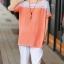เสื้อคลุมท้องสีส้ม ช่วงไหล่เป็นผ้าลูกไม้ มีซิปข้าง thumbnail 1