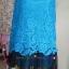 เดรสคลุมท้องผ้าลูกไม้สีน้ำเงินชายกระโปรงเป็นผ้าแก้วลายดอกไม้ สวยหรูมากค่ะ thumbnail 3