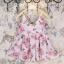 ชุดเซ็ทสาวน้อย เสื้อสายเดี่ยวลายดอกกุหลาบ + กางเกงสีขาวใส่คู่กันลงตัวมาก ผ้าใส่สบายมากค่ะ thumbnail 2