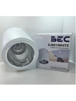 DJ601WHITE ดาวน์ไลท์ติดลอย E27 สีขาว ทรงกลม BEC