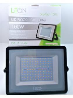 โคมฟลัดไลท์ LED 100W WW รุ่น 03 SLIM ดำ FLSMD03-100-BK-WW LUMI สำเนา