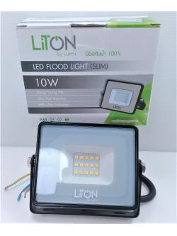 โคมฟลัดไลท์ LED 10W WW รุ่น 03 SLIM ดำ FLSMD03-10-BK-WW LUMI