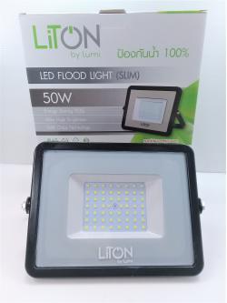 โคมฟลัดไลท์ LED 50W DL รุ่น 03 SLIM ดำ FLSMD03-50-BK-DL LUMI