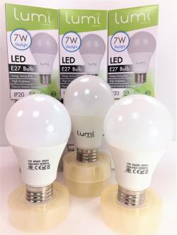 หลอด LED E27 7W เดย์ไลท์ Lumi