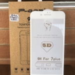 P-One ฟิล์มกระจกนิรภัย iPhone 7 PLUS/iphone 8 plus แบบ 5D เต็มจอ ขอบโค้ง (สีขาว)