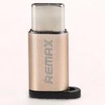Remax หัวแปลงจาก Micro USB เป็น Type C RA-USB1 Micro USB / Type C (Gold)