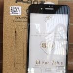 P-One ฟิล์มกระจกนิรภัย iPhone 7 PLUS/iphone 8 plus แบบ 5D เต็มจอ ขอบโค้ง (สีดำ)